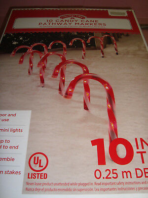 Candy Cane Pathway Markers..10 pc ..10 in tall