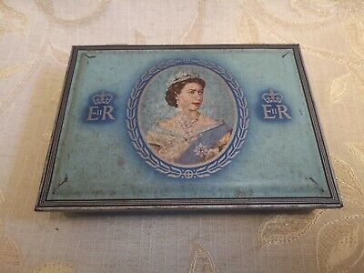 Vintage Coronation Of Her Majesty Queen Elizabeth II 1953 Tin