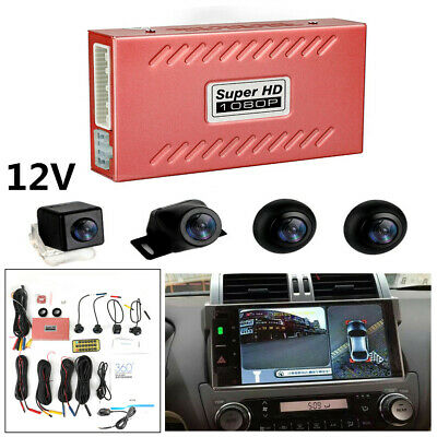 360° Without Night Matte Night Vision Bird View Panoramic System 4Camera Car DVR
