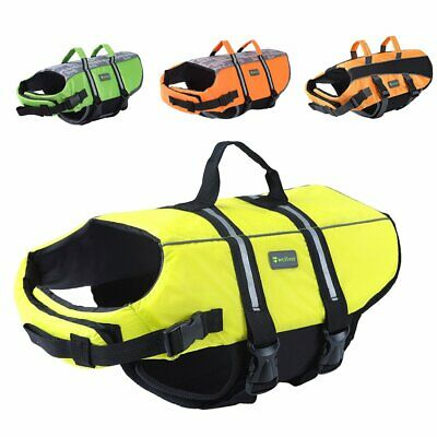 Dog Life Jacket Pet Life Preserver Saving Vest with Reflective Strips