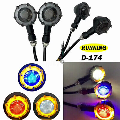 12V DC Motorcycle Turn Signal Light LED Indicator Lamp For Universal Motorcycles