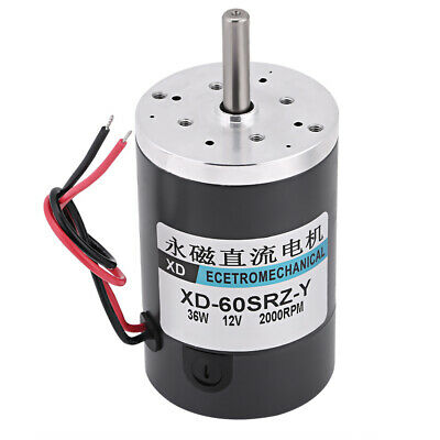 12V Permanent Magnet High Speed Large Torque Adjust Speed  CW/CCW DC Motor SY
