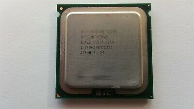 LOT OF 2 MATCHED PAIR INTEL XEON 2.66GHZ//8M//1333 SLAC4 CPU PROCESSOR