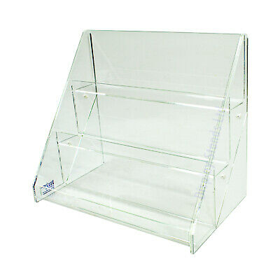 Acrylic 3 Tiered 300mm Greeting Card Display Stand Ds43 300
