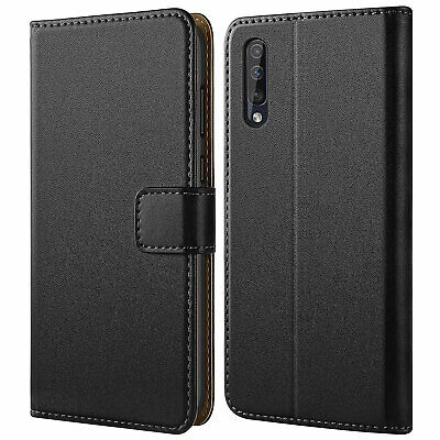 Samsung Galaxy A20 A30 A50 A70 Case Cover, Magnetic PU Leather Flip Wallet Case