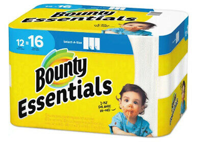 Bounty Essentials Select A Size 12-Count Paper Towels 2-ply Paper Towel