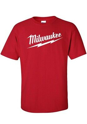 """ MILWAUKEE "" Tools  T SHIRT  tradie  MANY COLOURS mens/ womens  Tee   AU SELLER"