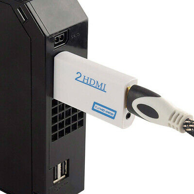 3.5mm Audio Output Jack Wii to HDMI Wii2HDMI Full HD FHD 1080P Converter Adapter