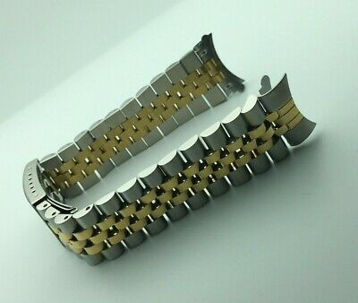 20mm Two Tone Jubilee Stainless Bracelet for Rolex Datejust 1601 1600 1603