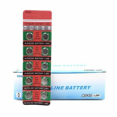 AG10 389 LR1130 189 Button Cell Coin Battery Electronics Watch Accessories 10pc