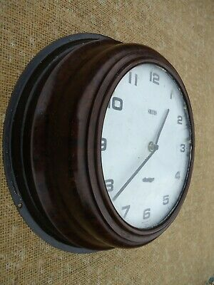1940's World War II Air Ministry Smiths Bakelite Wall Clock, Spares Or Repair.