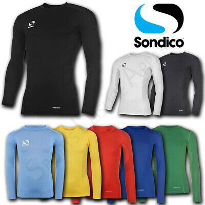 Boys Base Layer Sondico Long Sleeve Tops Junior Sports Compression T Shirts Kids