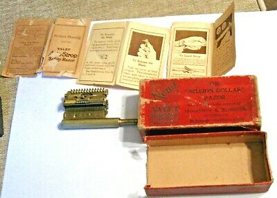 VINTAGE VALET AUTO STROP RAZOR GOLD PLATED COMPLIMENTS McKESSON & ROBBINS