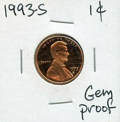 1993-S 1c Proof United States Lincoln Memorial Cent BH697