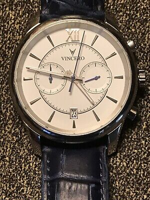 c48dde0cf Vincero Watch The Bellweather Silver/white Dial Leather Mens Luxury Watch .sale.