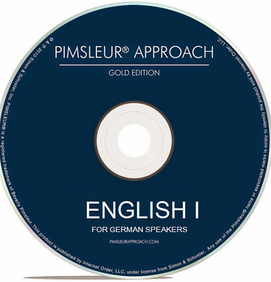 Pimsleur ENGLISH I for German Speakers - Gold Edition - 16 CDs - Level 1