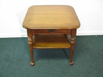 Antique Ethan Allen Kling Maple End Table.