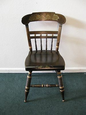 Ethan Allen Antiqued Pine Hitchcock Painted Chair