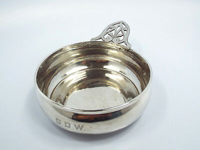Antique Watrous Sterling Silver Porringer Bowl, Engraved S.D.W #624, 119.3g