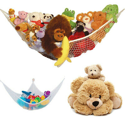 Large Soft Teddy Mesh Baby Childs Hammock Tidy Toy Storage Nursery Bedroom