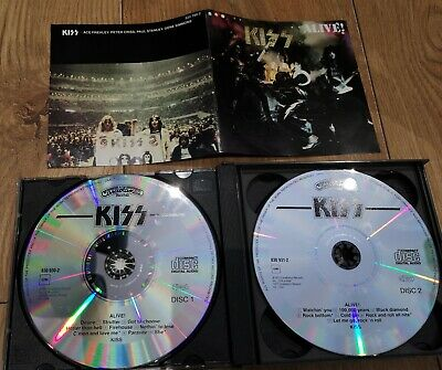 KISS ALIVE! Double CD Fatbox Edition Not Remastered 1994 Press Excellent