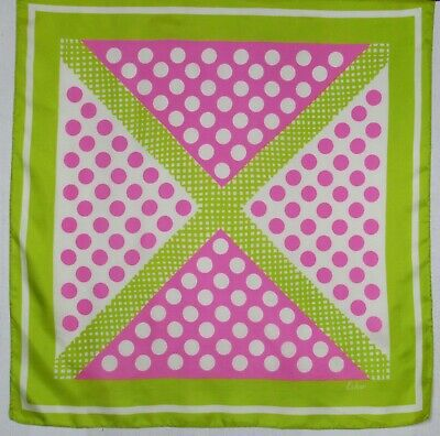 ECHO Pink & Lime silk scarf 68 x 68 cm (X marks the spot)