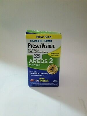 Bausch Lomb PreserVision AREDS 2 Formula 140 Soft Gels  Exp 7/2020