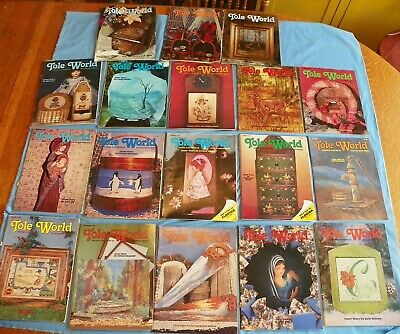 29 Issues Tole World Decorative Painting 1980's