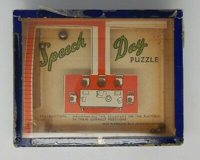 Antique English Speech Day Dexterity Puzzle R Journet London