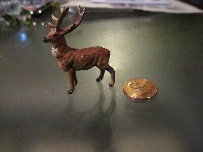 Small Cold-Painted Reindeer Signed GERMANY