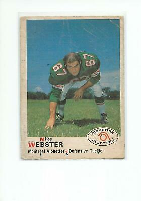 MIKE WEBSTER 1970 OPC CFL Football card #109 Montreal Alouettes FR-/PR+