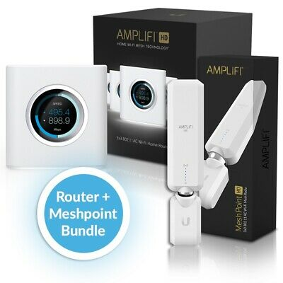 Ubiquiti Networks Amplifi  Amplifi Router & 1x Mesh Point Bundle Pack – Medium
