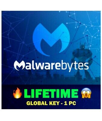 🔑 Malwarebytes Anti-Malware LIFETIME Activatio Key | Windows | Instant Delivery