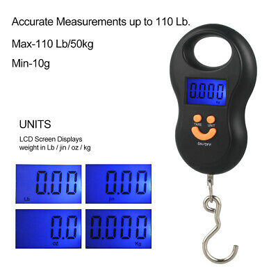 110 lb. Digital Luggage Scale Hand Held Checked Airport Baggage Bag Carry On LCD