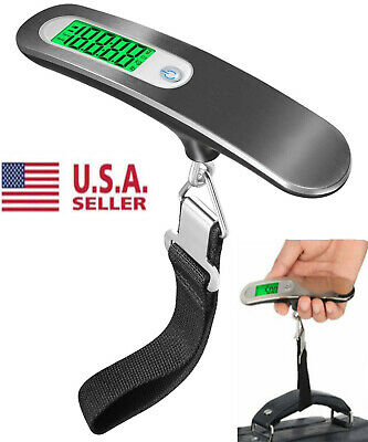 110lb / 50Kg Hanging Luggage Scale LCD Digital Portable Travel Electronic Weight