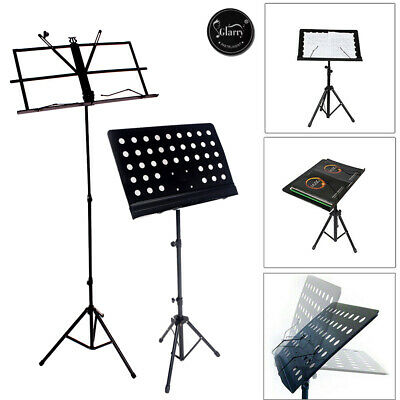 Adjustable Heavy Duty Folding Music Stand Holder Metal Black Color