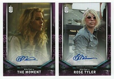 2018 Topps Doctor Who Signature Series Billie Piper auto cards - Moment & Rose