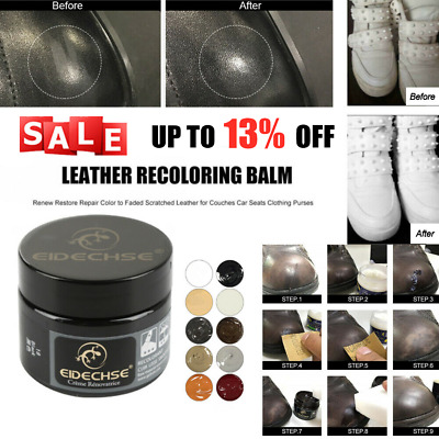 Leather Repair Kit for Car Seats Sofa Scratch Rips Tares Scuffs Holes 10 COLORS