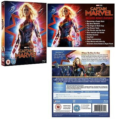 CAPTAIN MARVEL (2019) Brie Larson, Action, Adventure, Sci-Fi - RgFree BLU-RAY