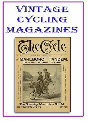 2000+ Rare Bicycle Magazine Issues on 3 DVDs - Vintage Cycling Penny Farthing M3