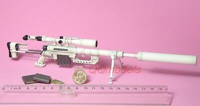 1:6 MODEL CHEYTAC INTERVENTION M-200 SNOW CAMO Sniper RIFLE GUN M200 M200_D