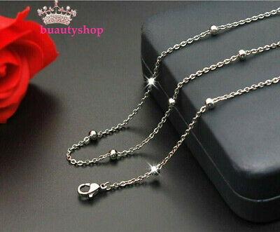 1.3mm 40-50cm Length 316L Stainless Steel Exquisite Silver Color Necklace Chain
