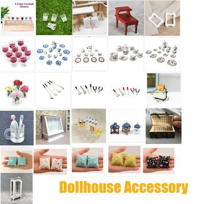 Dolls House Furniture Drink Dining Kitchen Decoration Dollhouse Accessory 1:12