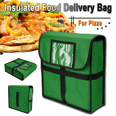 Pizza Delivery Bag Thick Insulated Food Thermal Holds up to 12'' Pizzas Green !