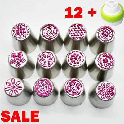 Russian Stainless Steel Pastry Tips Fondant Cake Decor Icing Piping Nozzles