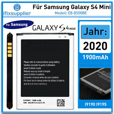 Für Original Samsung Galaxy S4 Mini GT-I9190 i9195 Akku Batterie EB-B500BE Accu