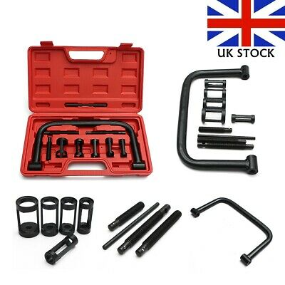 UK 10 Pcs Car Motorcycle Valve Spring Clamps Compressor Tool Bit Set with Box