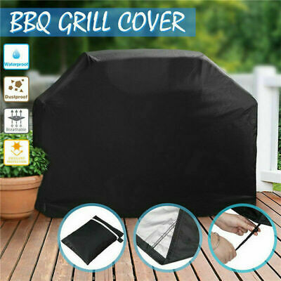 S/L BBQ Cover Multi-size Heavy Waterproof Barbeque Patio Grill Black Protector
