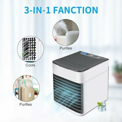 Mini Climatiseur Humidificateur Purificateur  Portable 7 LED  USB 3 En 1