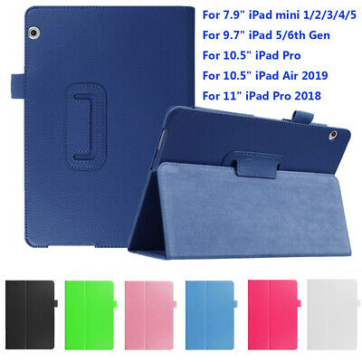 "Slim Leather Smart Case Magnetic Cover For Apple iPad Mini Air 7.9"" 10.5"" 2019"